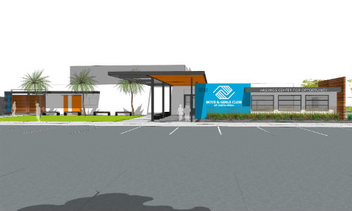 rendering of costa mesa club exterior