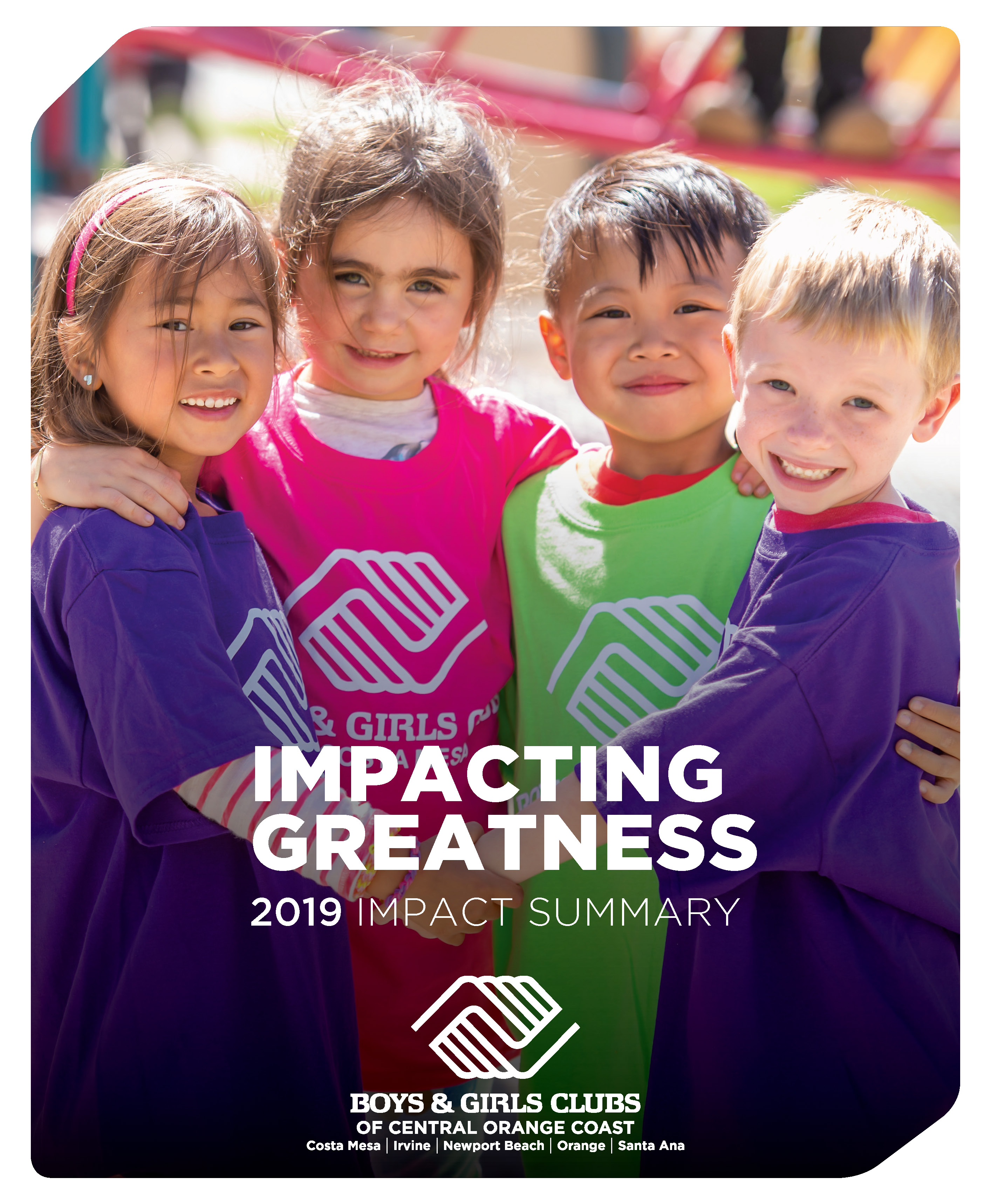 2019 Impact Report cover impacting greatness