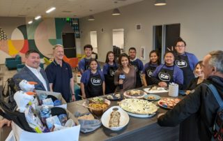 teens display food prepared during Dole challenge at new Teen Culinary Center at Boys & Girls Club of Costa Mesa